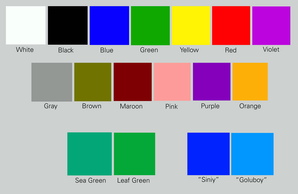 Color richard nilsen for Green in different languages