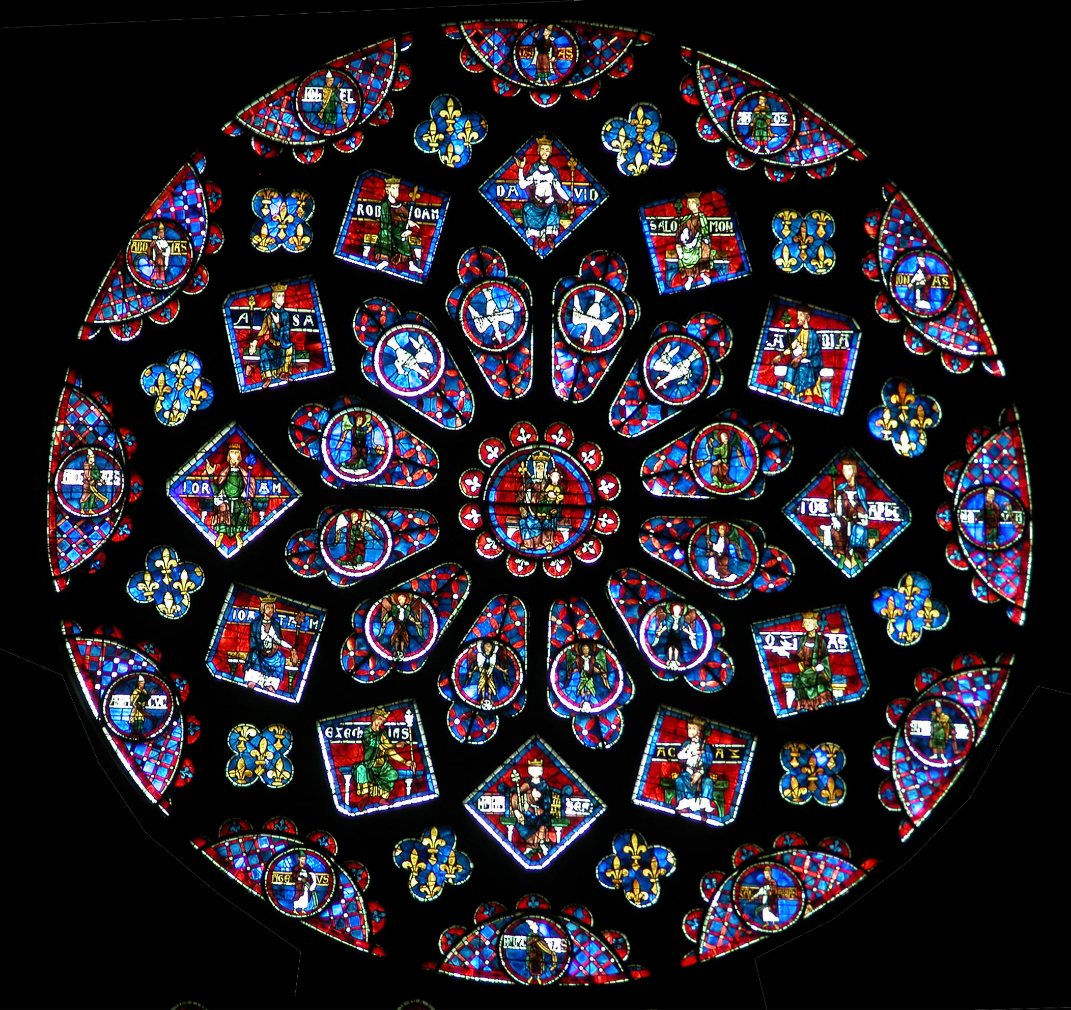 The chartres roses richard nilsen for Rose window design