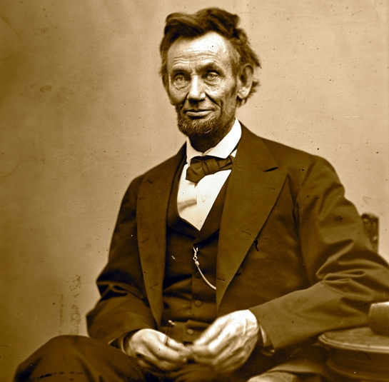 Lincoln seated