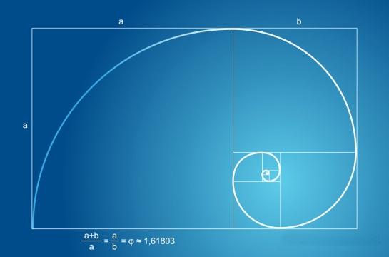 fibonacci in blue