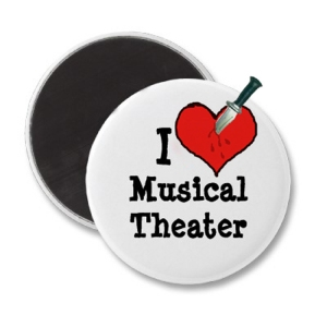 I hate musical theater button
