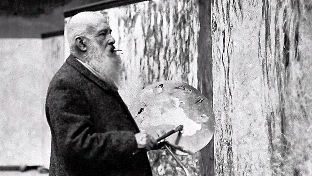 Monet at canvas
