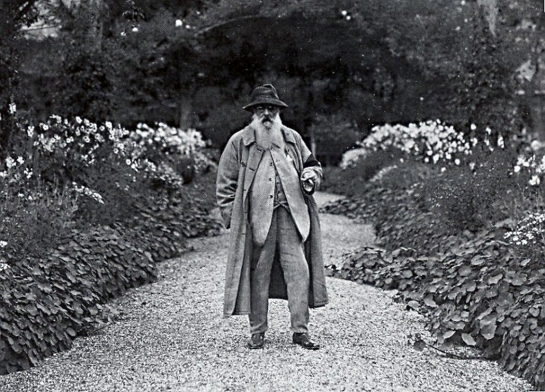 Monet in the garden