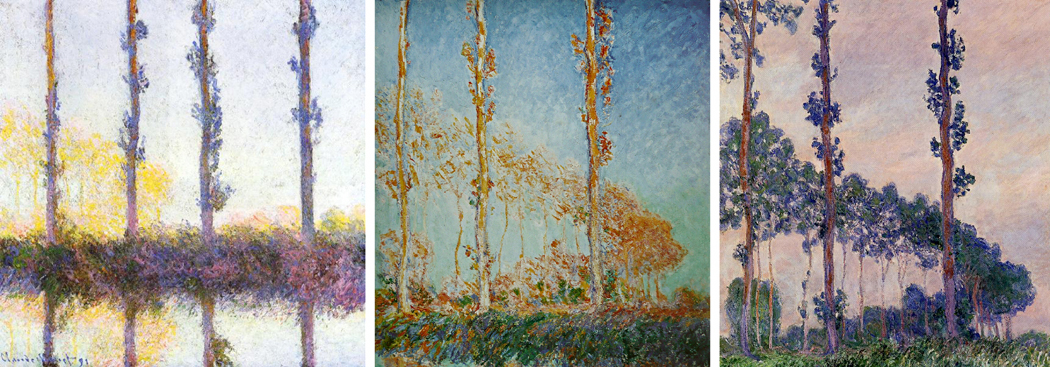 Monet poplars series