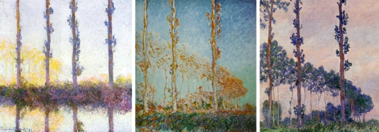 Monet poplars series