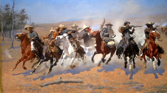"Frederic Remington, ""Dash for the Timbers"""