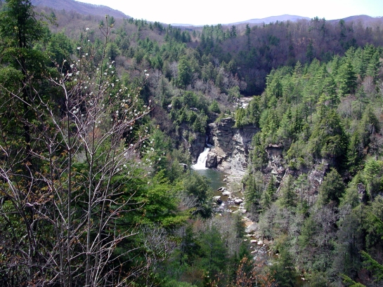 Linville falls from upper look