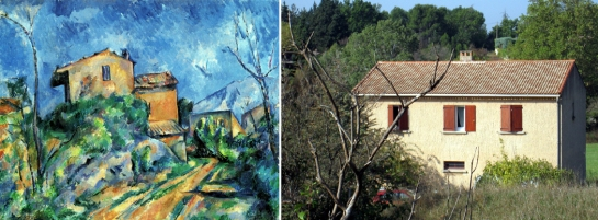 painting and real house