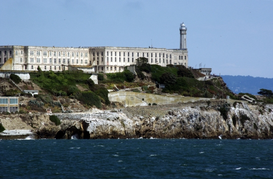 alcatraz prison on island