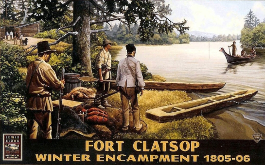 fort clatsop postcard