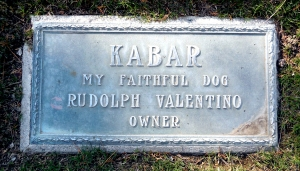 Kabar headstone pet cemetery