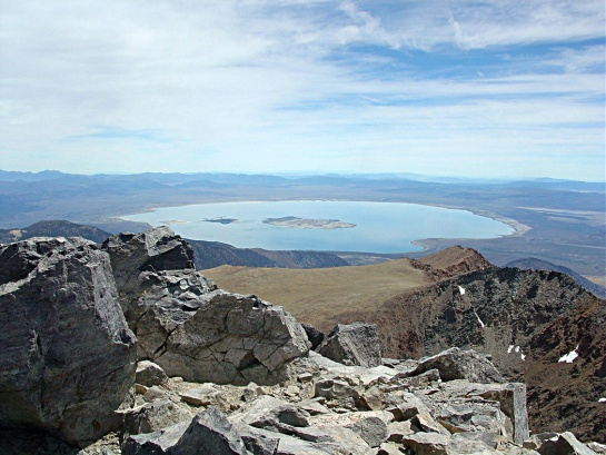 Mono Lake From Mt Dana