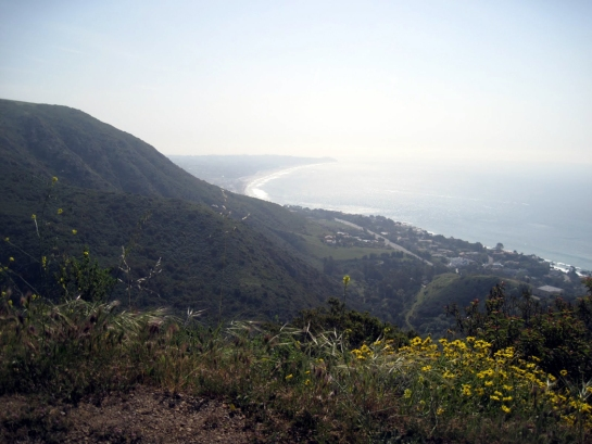 mulholland vista with ocean