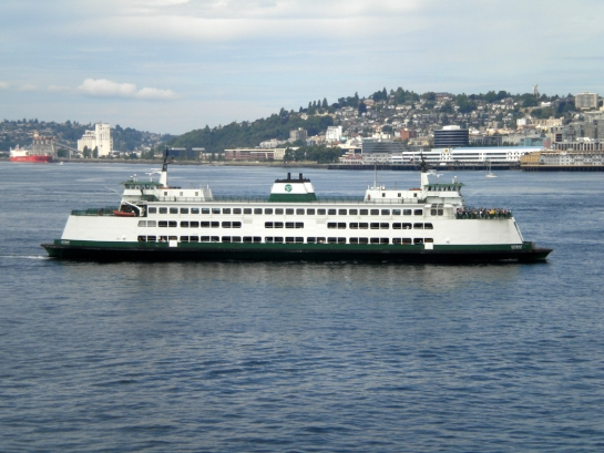 MV Kitsap arriving in Seattle