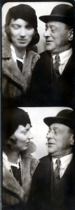 Schoenberg and his 2nd wife in a photobooth