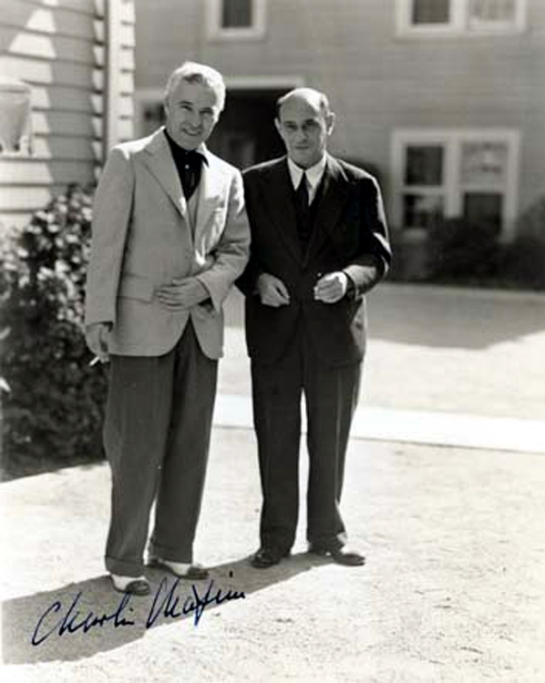 Schoenberg with Charlie Chaplin