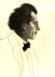 Gustav Mahler Emil Orlik 1902
