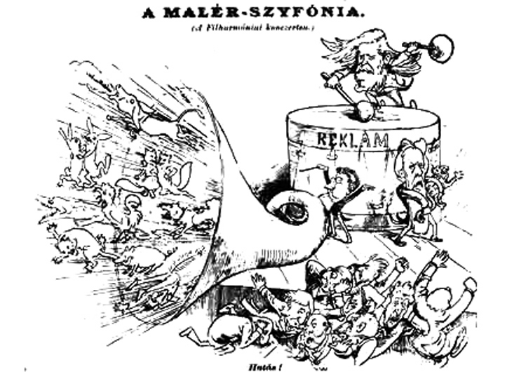 mahler exhausts mahler caricature 2