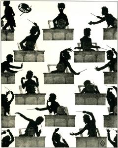 Mahler silhouette Otto Böhler