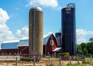 harvestore silo and barn