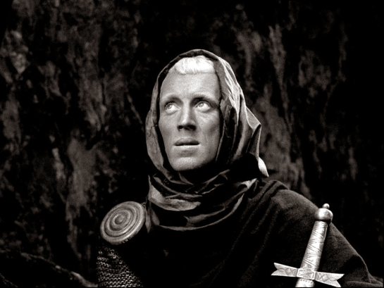 seventh seal knight looks up