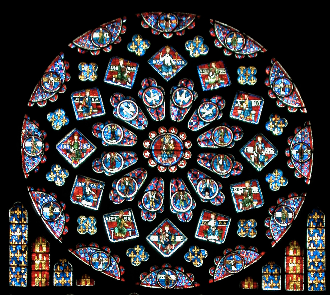 Chartres north rose window