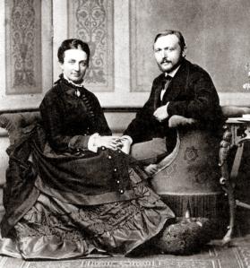 Richard Freiherr von Krafft-Ebing with his wife, Marie Luise