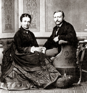 Richard Freiherr von Krafft-Ebing with his wife, Marie Luise