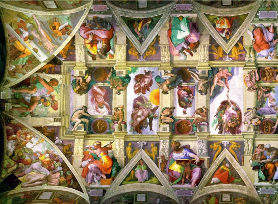 Sistine ceiling detail
