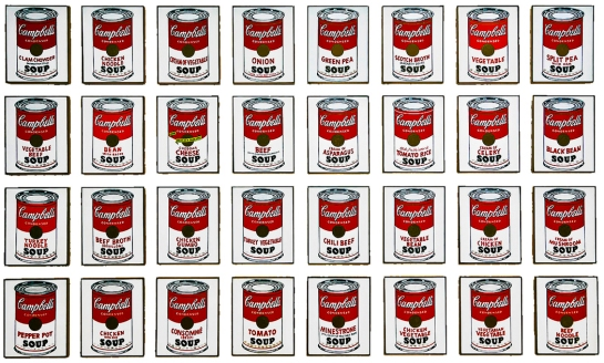 warhol soup can multiples