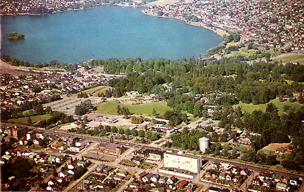 Woodland Park and Green Lake, 4 decades ago