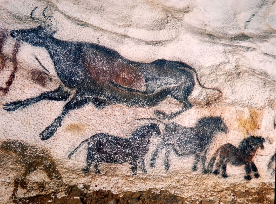 aurochs and horses lascaux1947