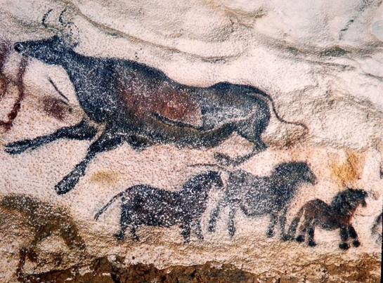 aurochs and horses lascaux1947