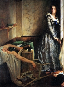 """""""Charlotte Corday"""" by Paul Jacques Aime Baudry, 1860"""