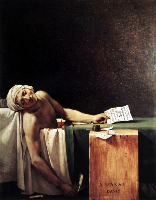 """The Death of Marat,"" by Jean-Louis David, 1793"