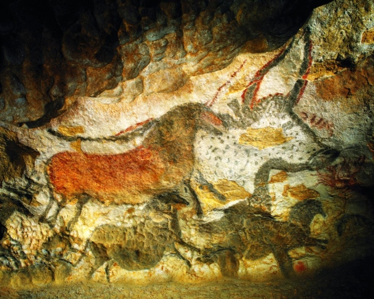 Lascaux II bull and horse