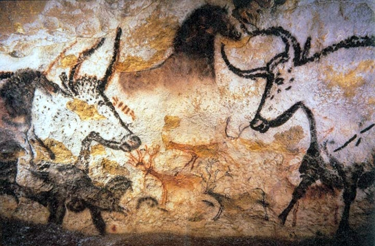 Lascaux II bull paintings