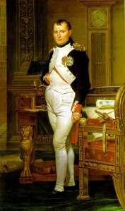 """Napoleon in his study"""