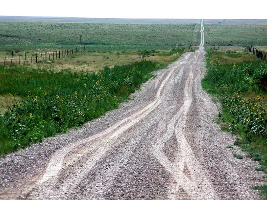 Pawnee road to horizon