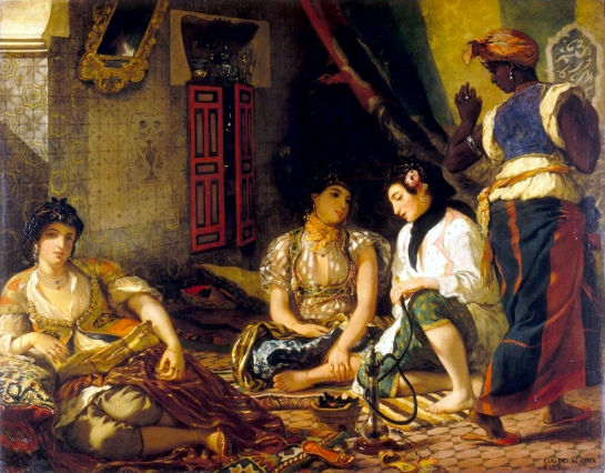 "Eugene Delacroix ""Women of Algiers"" 1834"