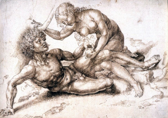 adam and eve etching