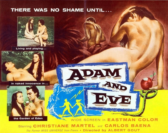 adam and eve poster 1958