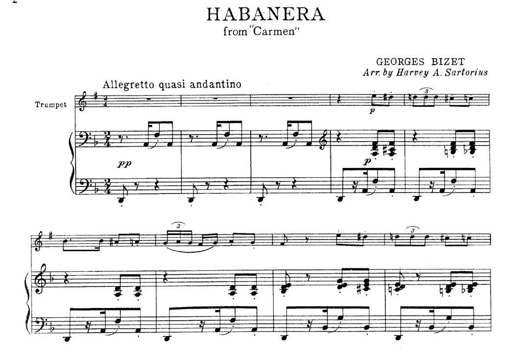 habanera score