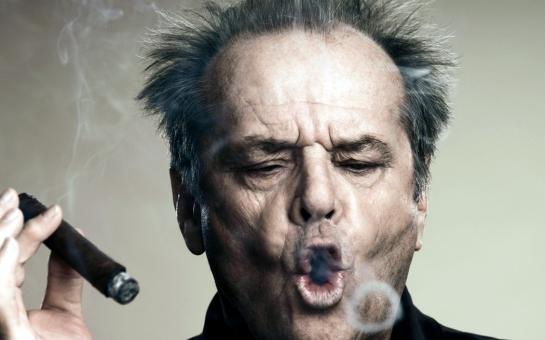 Jack Nicholson with cigar