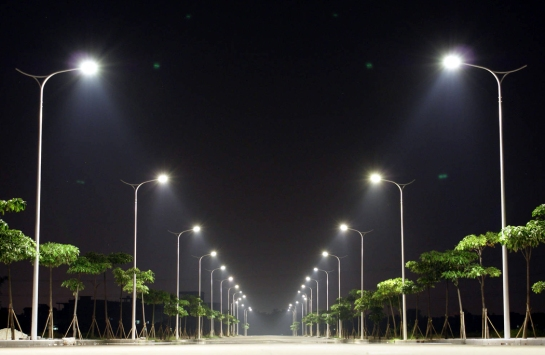 streetlights at night