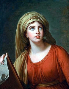 Lady Hamilton as the Cumean Sibyl by Vigee-Lebrun