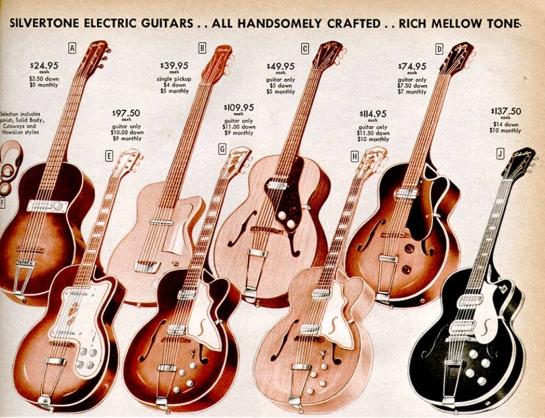 silvertone guitars