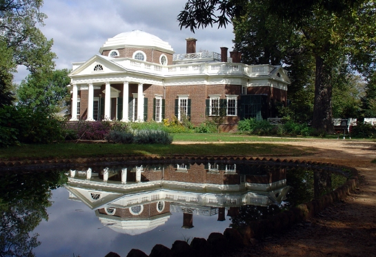 Monticello reflected