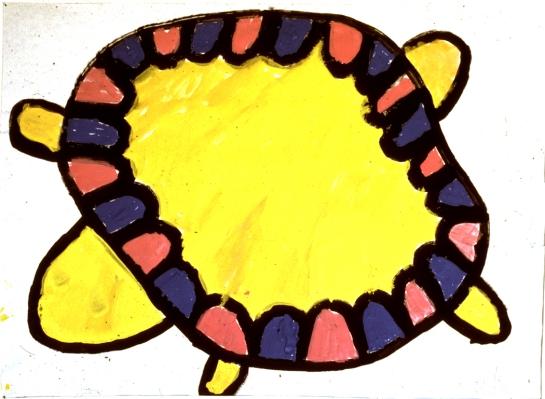 kids art 04 -- turtle