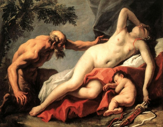 venus and satyr sebastiano ricci 1720